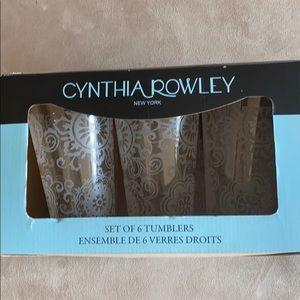 Cynthia Rowley set of 6 floral plastic tumblers